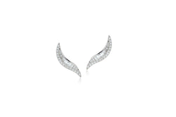 Talay Wave 19 Diamond Stud Earrings
