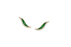 Talay Wave 19 Tsavorite Stud Earrings