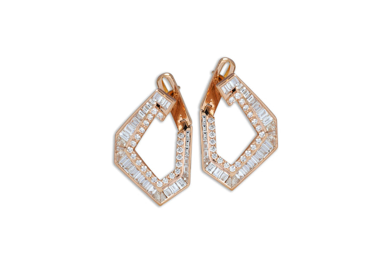 Origami Link no.5 Diamond Earrings (Medium)