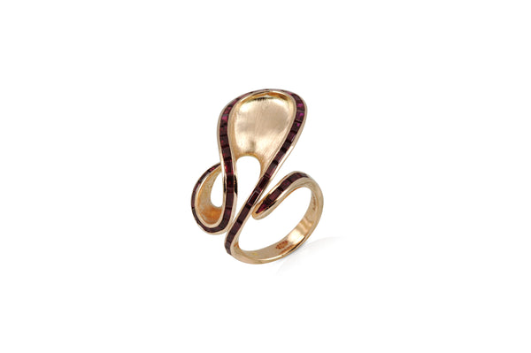 Talay Dancing Wave Ruby Ring