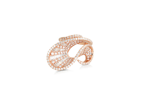 Talay Dancing Wave  Diamond Ring as seen on Molly Sims