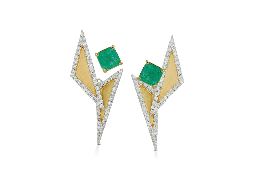GeoArt DUO TT Ear Jacket - Earrings