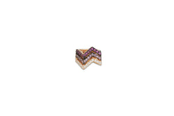Origami Ziggy Sapphire Diamond Ear cuff  in Rose Gold
