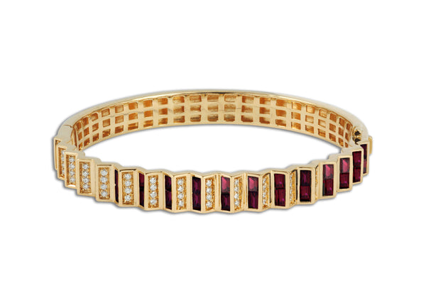 Agamo 1.0 Ruby Diamond Bangle