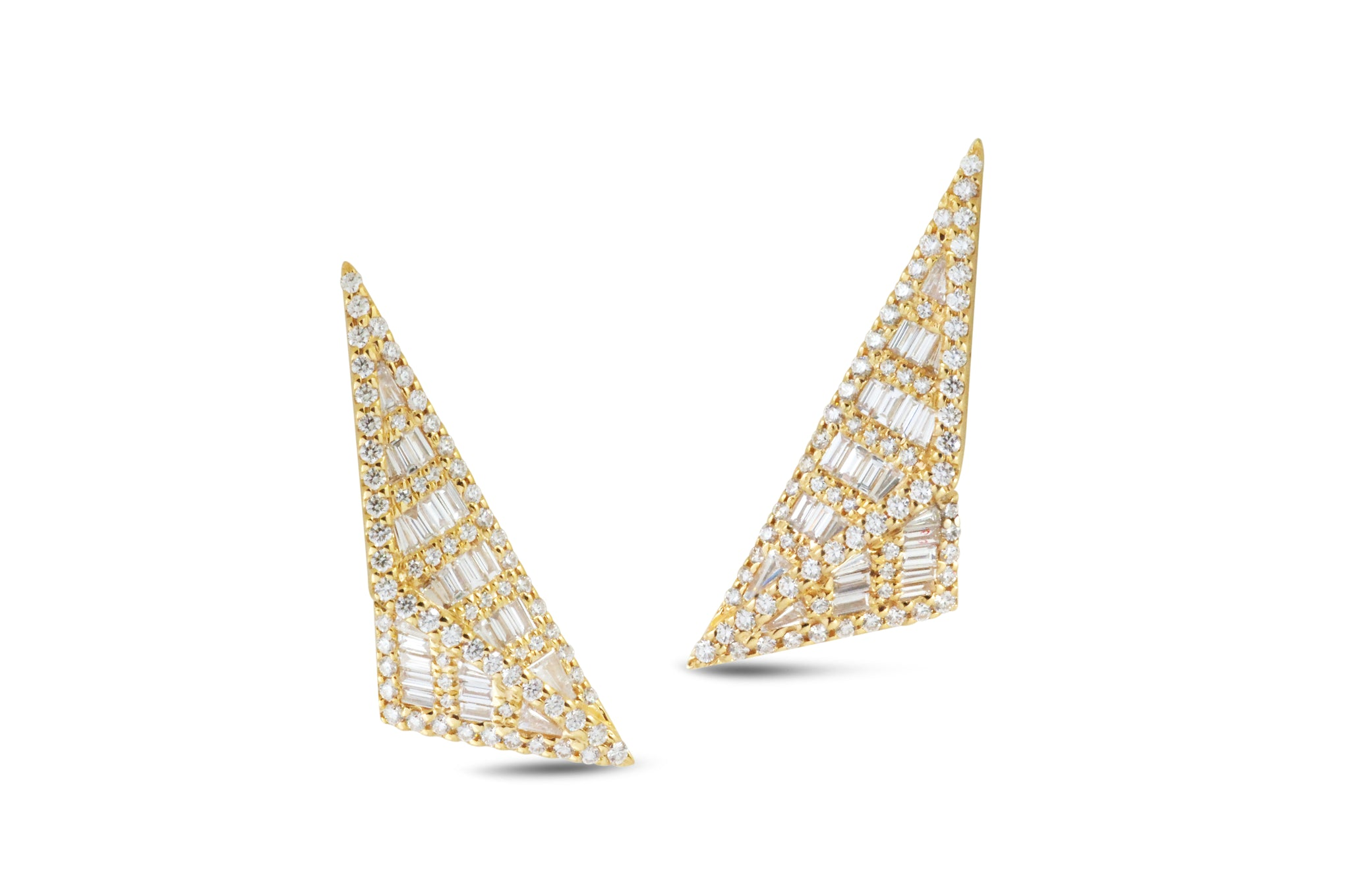 Origami Trillion Diamond Earrings as seen on Jennifer Lopez