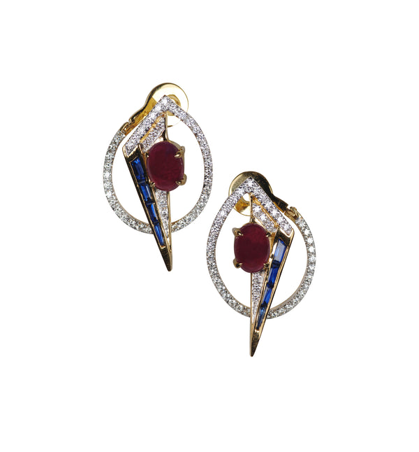 GeoArt OTO Ruby Earrings