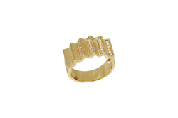 Agamo 1.0 Diamond Yellow Gold Ring