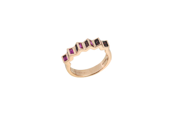 Agamo Petite Pink Sapphire Ruby Ring