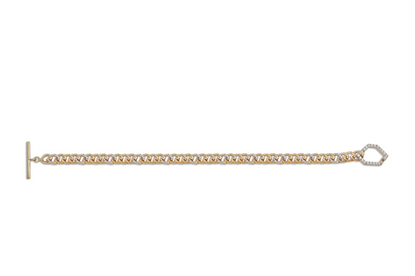 Origami  Link  no.5 Petite Skinny Diamond Toggle Bracelet