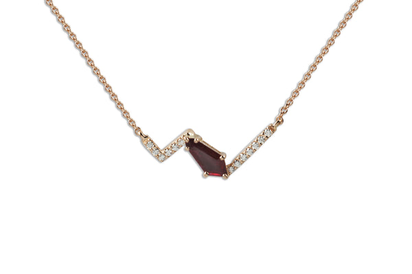 Origami Ziggy Jazz Ruby Necklace