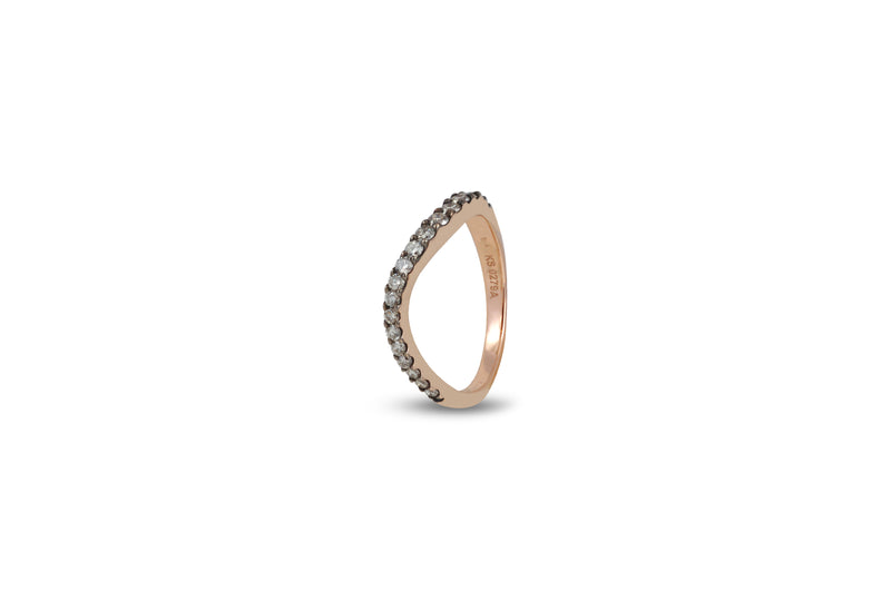 Talay Skinny Flow Wave Ring in Pave Icy Diamond