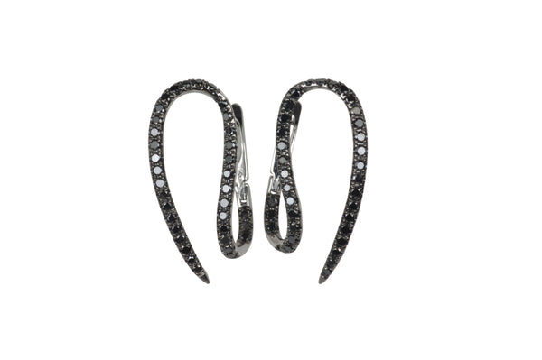 Le Phoenix Single Claw Black Diamond Earrings