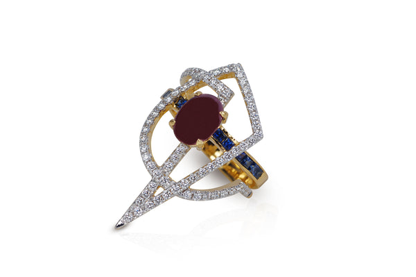 GeoArt OTO Ruby Ring