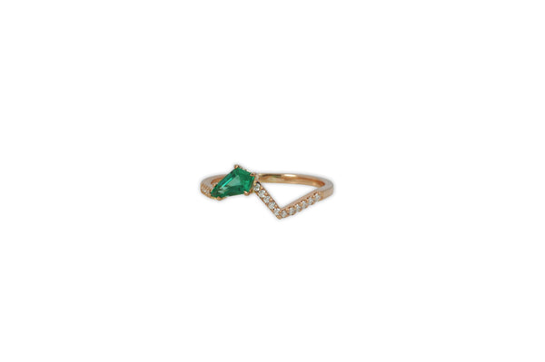 Origami Ziggy Jazz Emerald and Diamond Ring