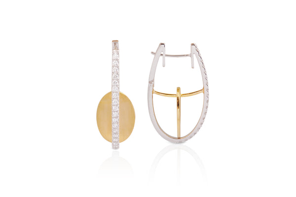 GeoArt Oval Float Earrings