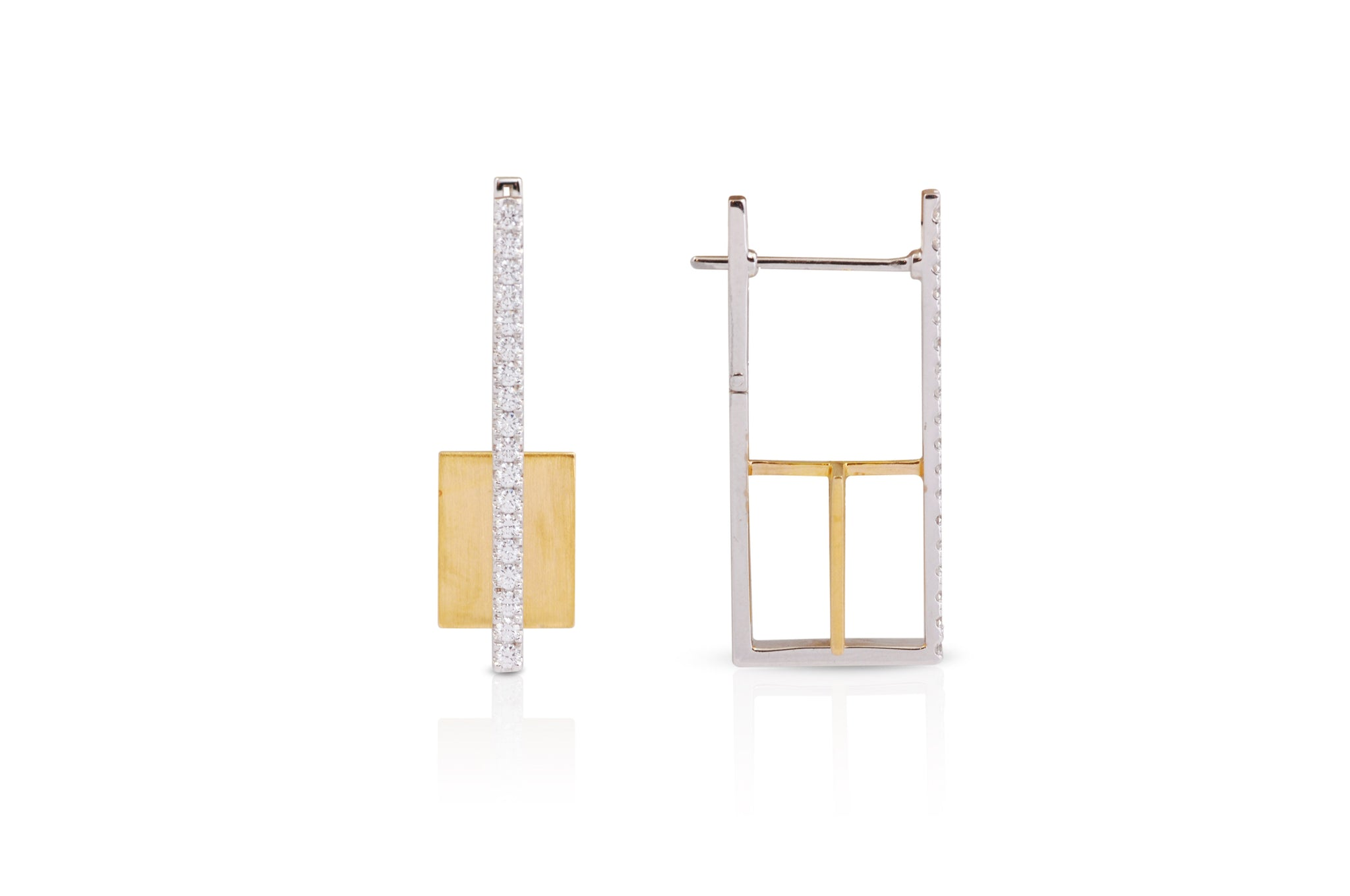 GeoArt Rectangle Float Earrings