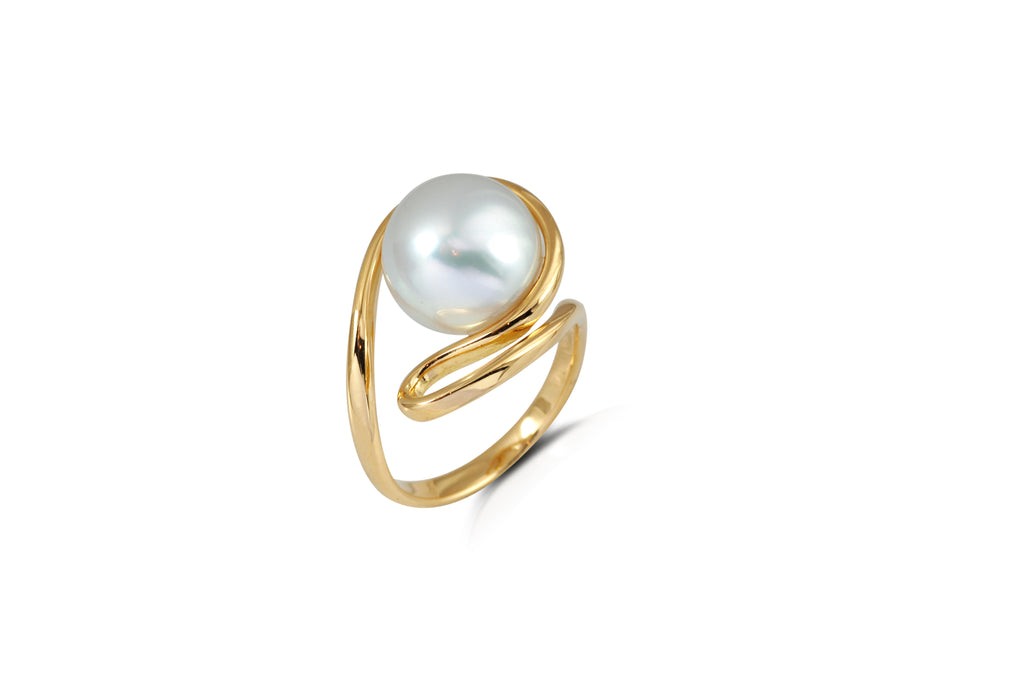 Talay South Sea Pearl Silhouette Ring