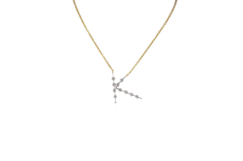 Talisman: Constellation Alphabet K Diamond Necklace