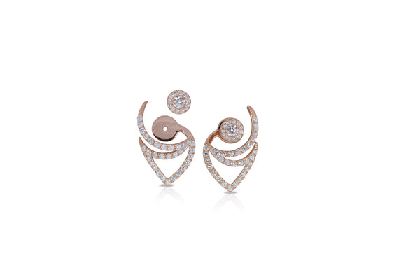 Le Phoenix Over-the-Moon Diamond Earrings