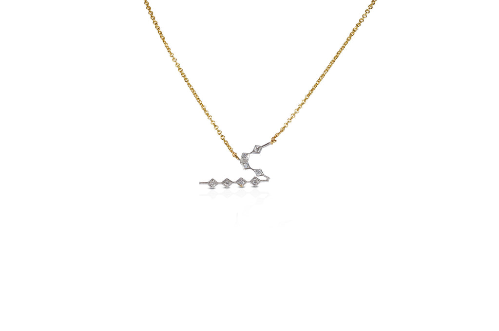Talisman: Constellation Alphabet S Diamond Necklace