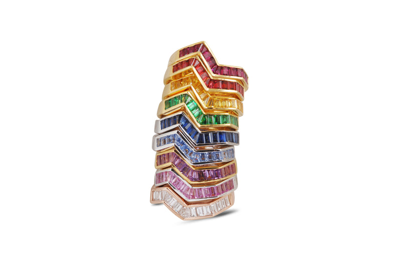 Origami Ziggy Stack Rings  Kavant Sharart