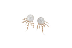 Talisman: Constellation Pattern 6 Pearl Earrings
