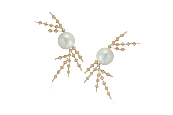 Talisman: Constellation Pattern 8 Pearl Earrings