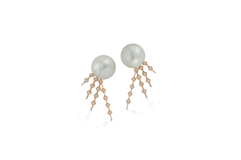 Talisman: Constellation Pattern 4 Pearl Earrings