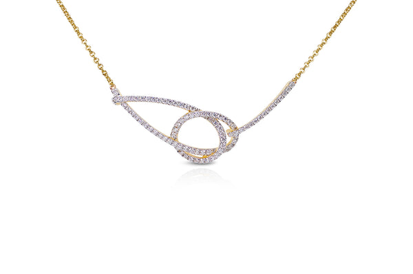 Talisman: Eternity Knot Diamond Necklace