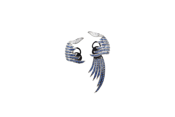 Le Phoenix Enchanted Sapphire & Diamond Ear climber Earrings