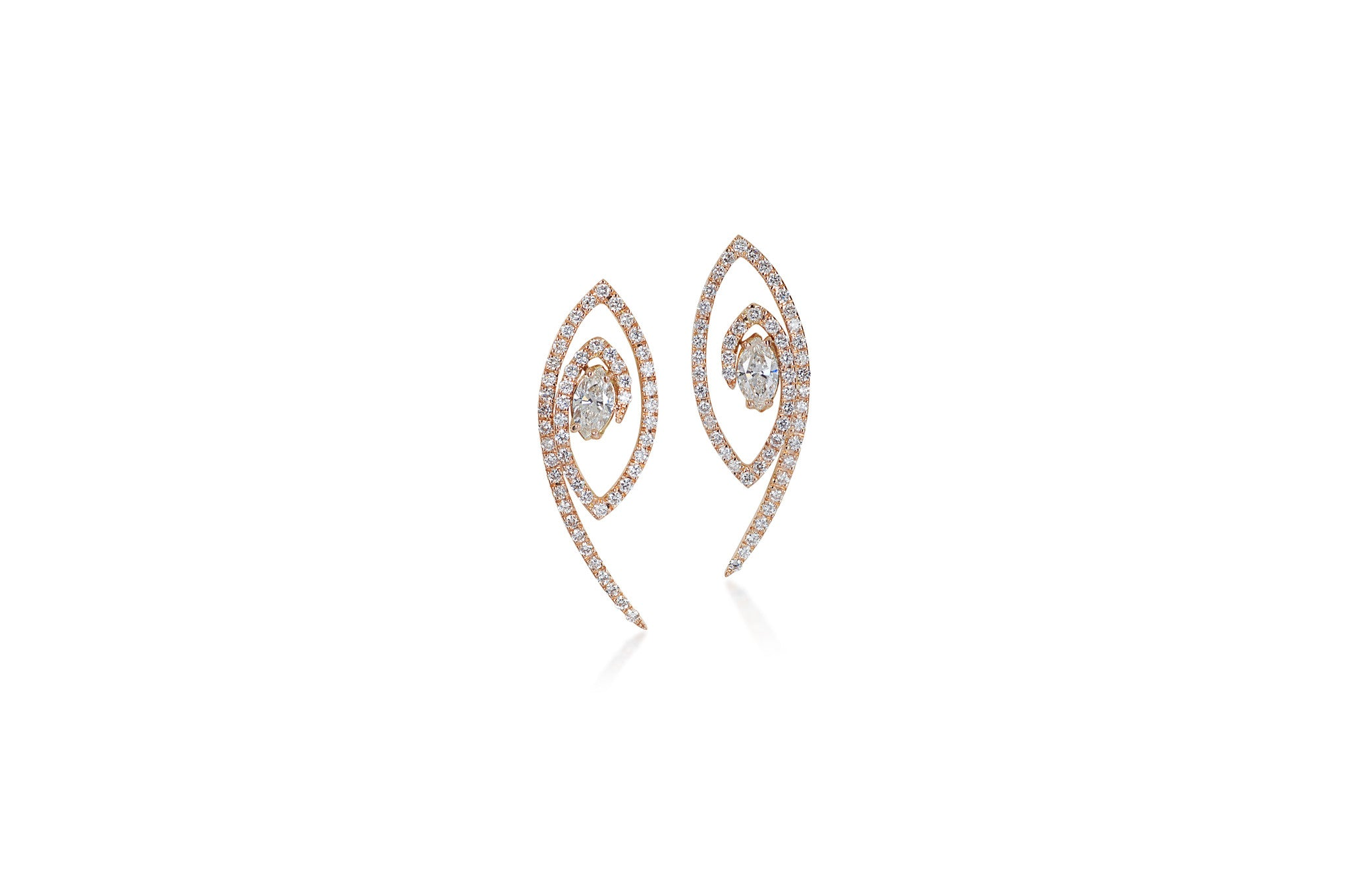 Talisman: The Eye Rose Gold Diamond Earrings