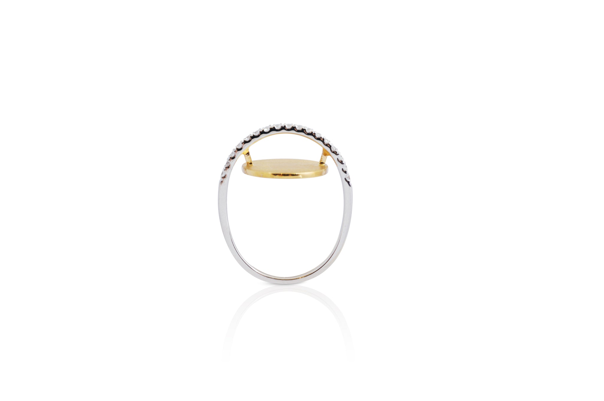 GeoArt Oval Float Diamond Ring [as seen on Mindy Kaling]