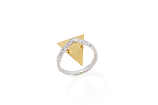 GeoArt Triangle Float Diamond Ring