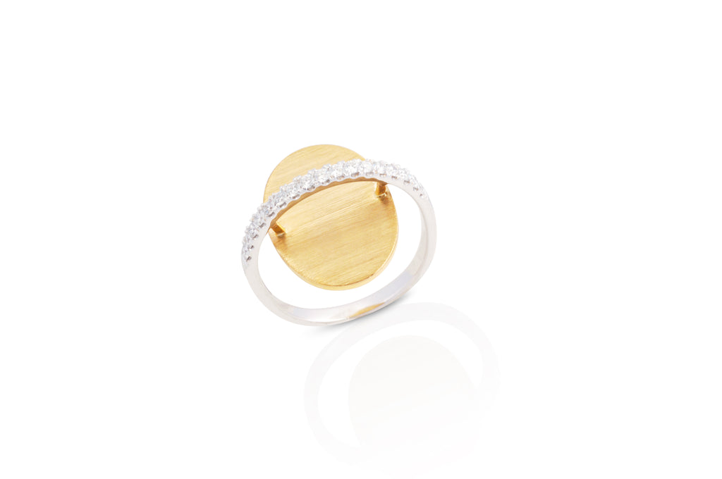 GeoArt Oval Float Diamond Ring