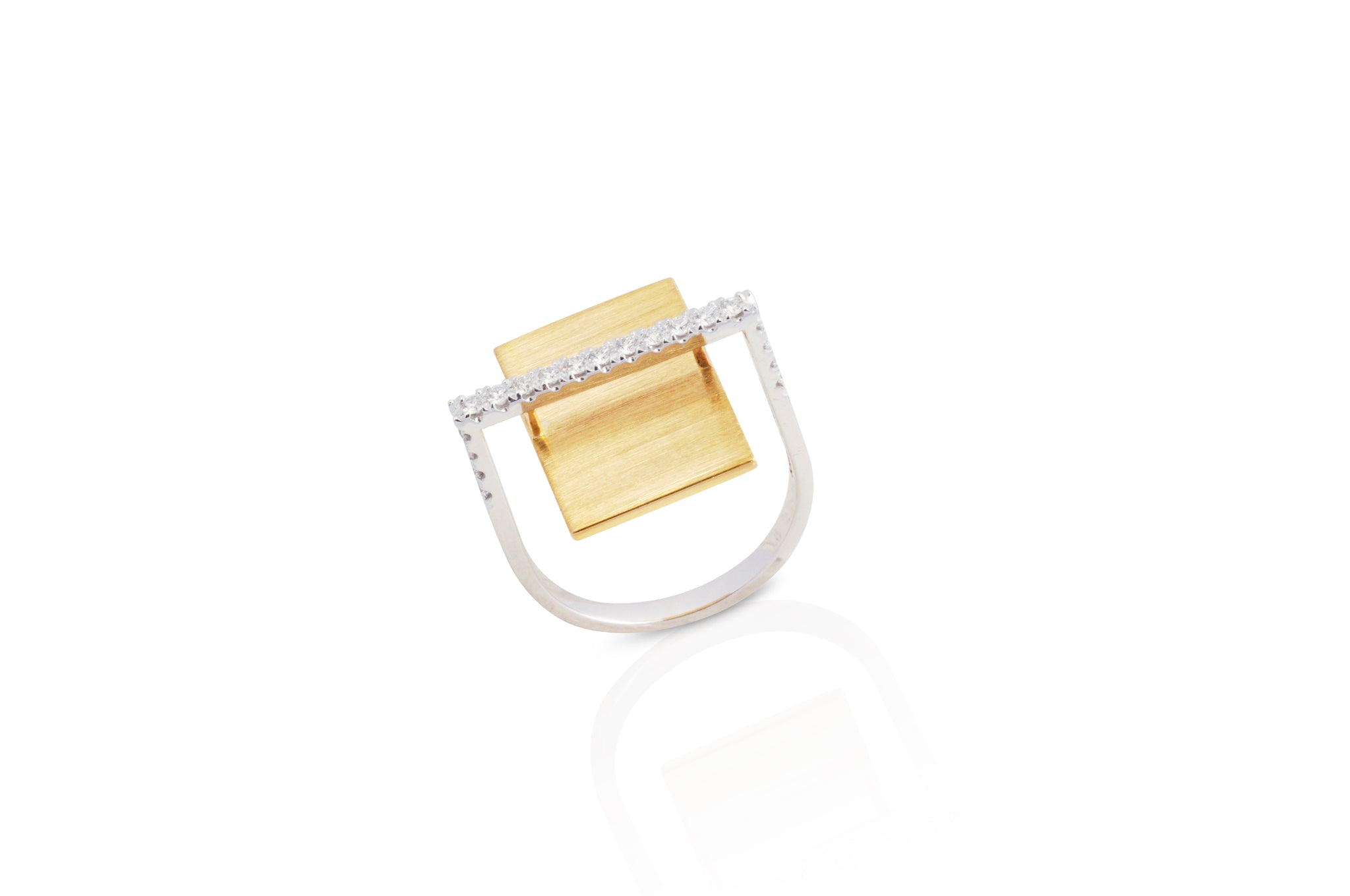 GeoArt Rectangle Float Diamond Ring