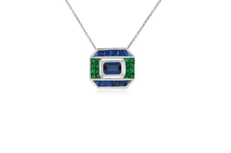 GeoArt Back to Basic Puzzle Center Necklace