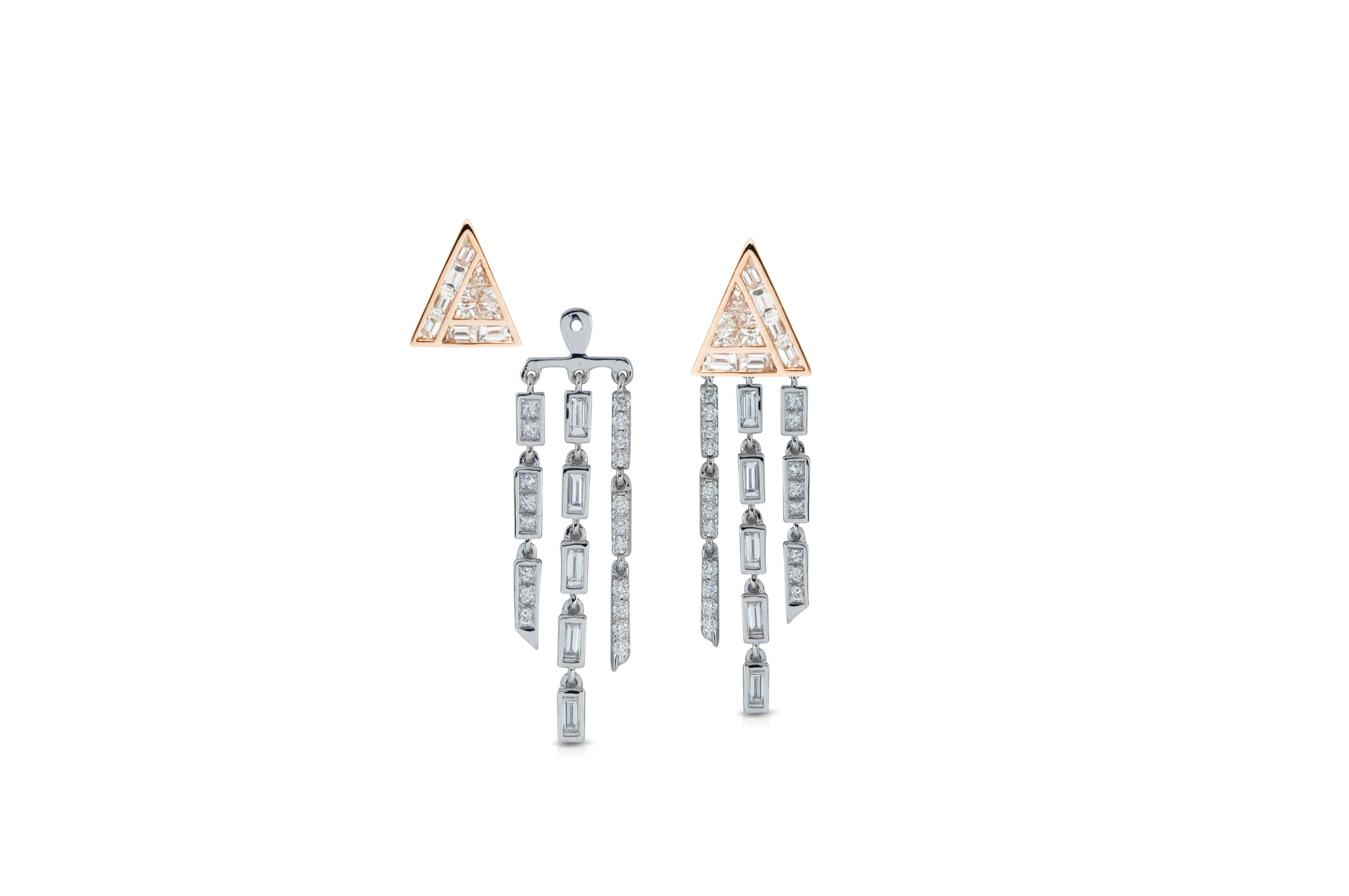 GeoArt Back to Basics Puzzle Fringe Earrings