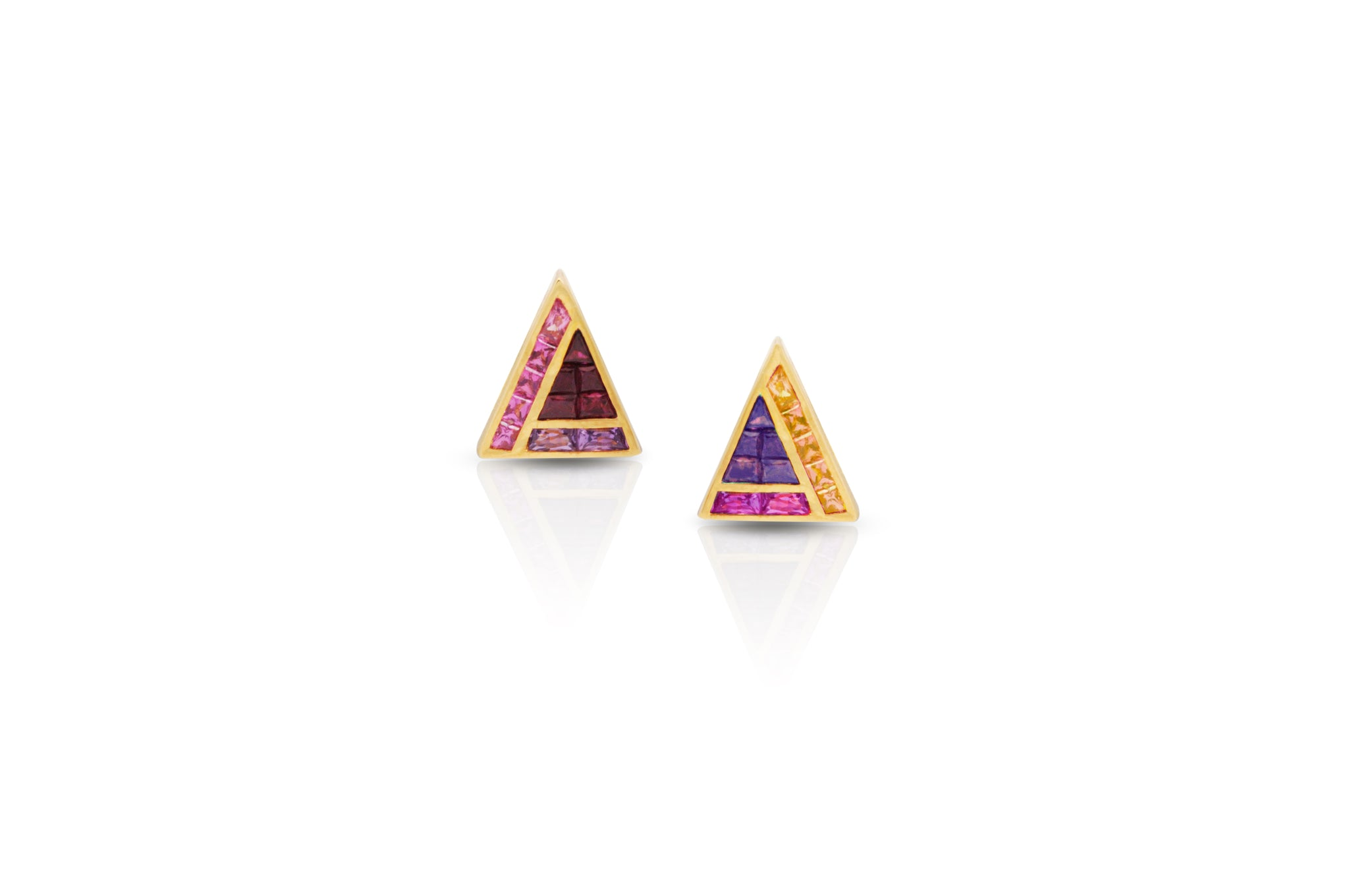 GeoArt Back to Basics Puzzle Stud Earrings