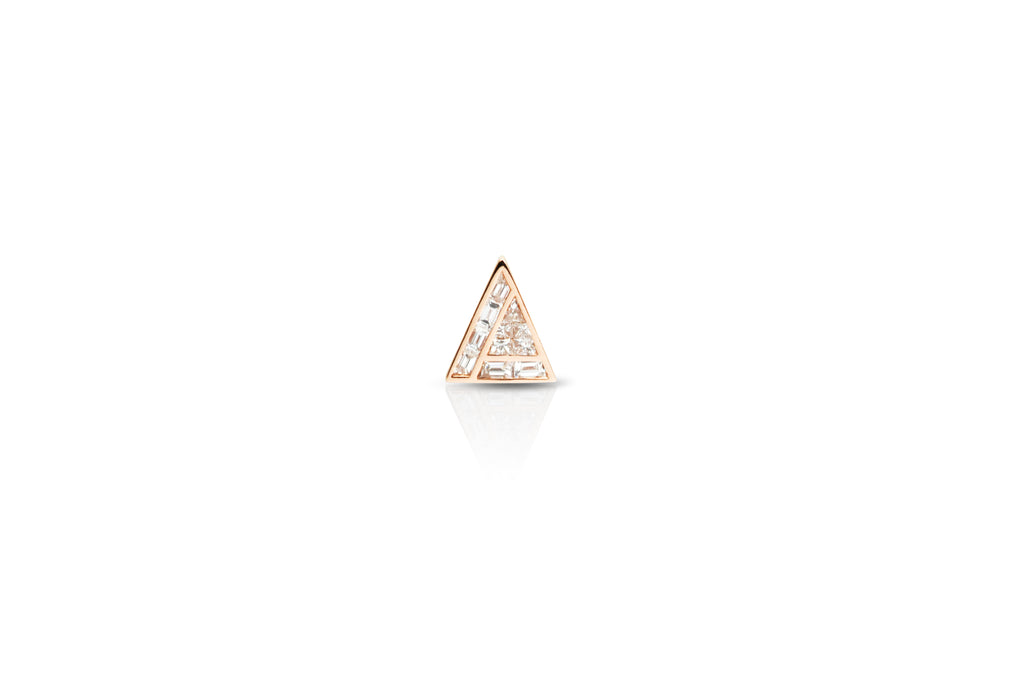 GeoArt Back to Basics Illusion Diamond Stud Earring