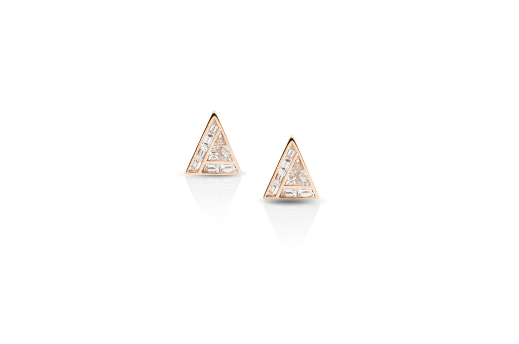 GeoArt Back to Basics Illusion Diamond Stud Earrings