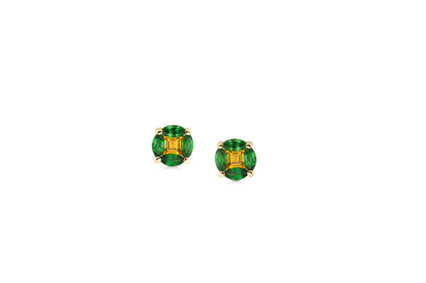GeoArt Back to Basics Round Puzzle Stud Earrings