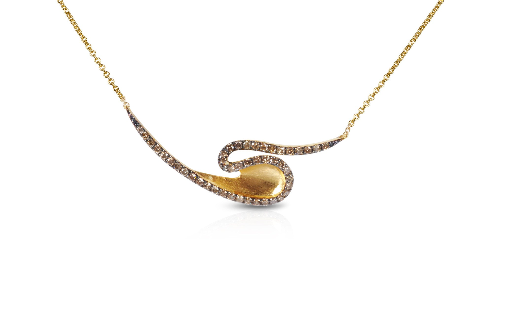 Talay Gold Wave Necklace