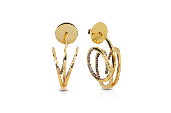 Talay Wave Hoop I Gold Earrings (Mini)