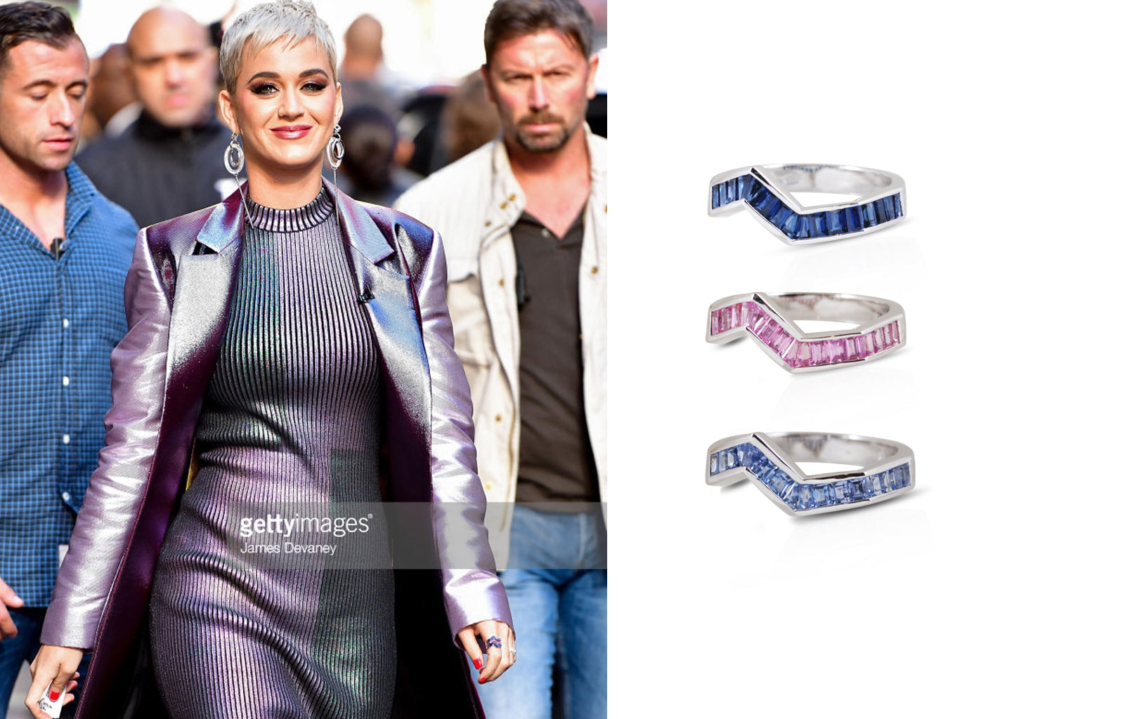 Origami Ziggy Stack Rings worn by Katy Perry Kavant Sharart