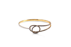 Talisman: Eternity Knot Diamond Bangle