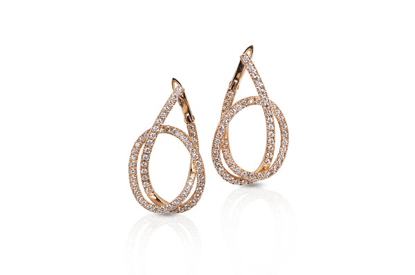 Talisman: Eternity Knot Diamond Earrings
