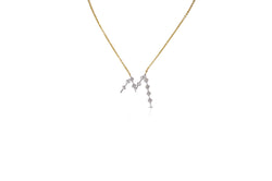 Talisman: Constellation Alphabet M Diamond Necklace