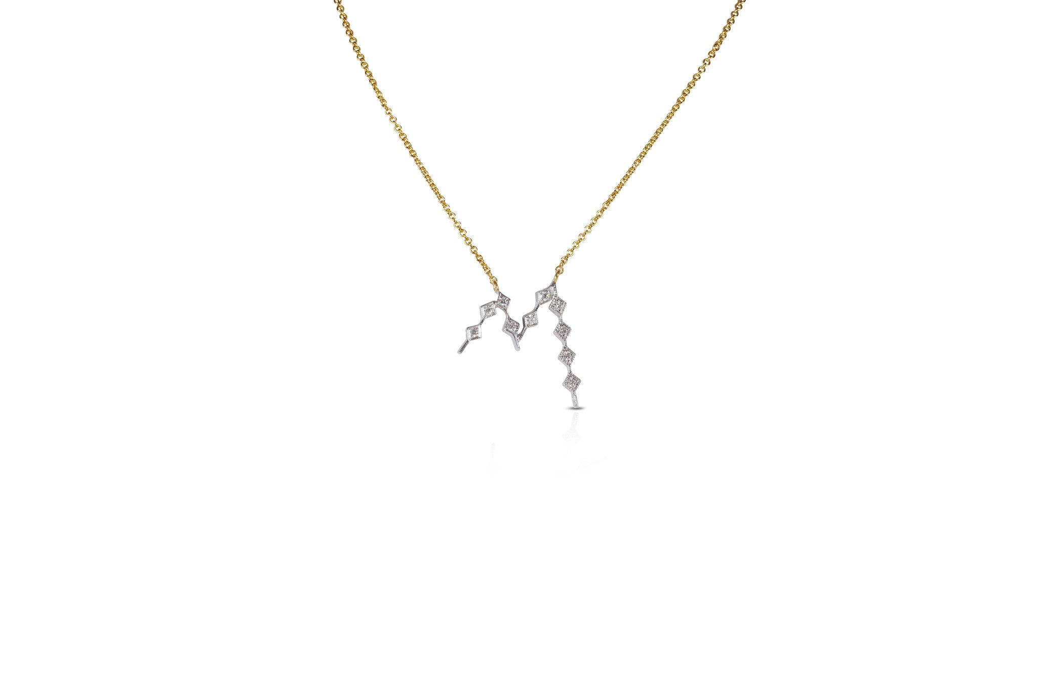Talisman: Constellation Alphabet A Diamond Necklace
