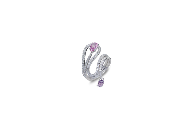 Talay Wave Stack Sapphire and Diamond Ring [as seen on Gabrielle Union]
