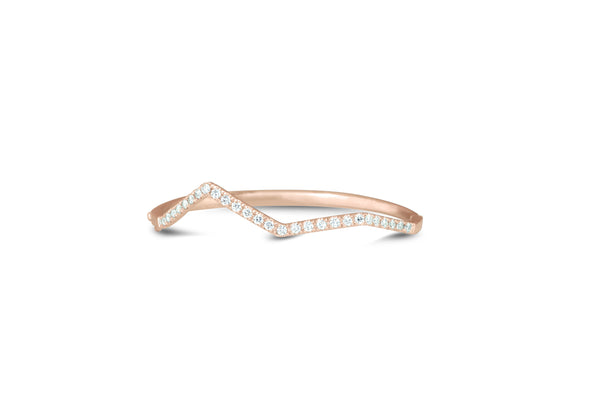 diamond ziggy pave bangle in rose gold